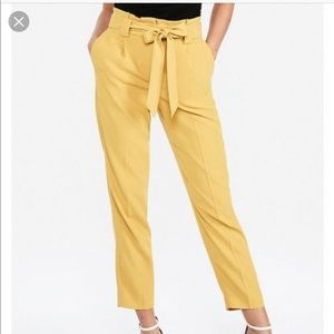 High waisted paper bag ankle pants NWT